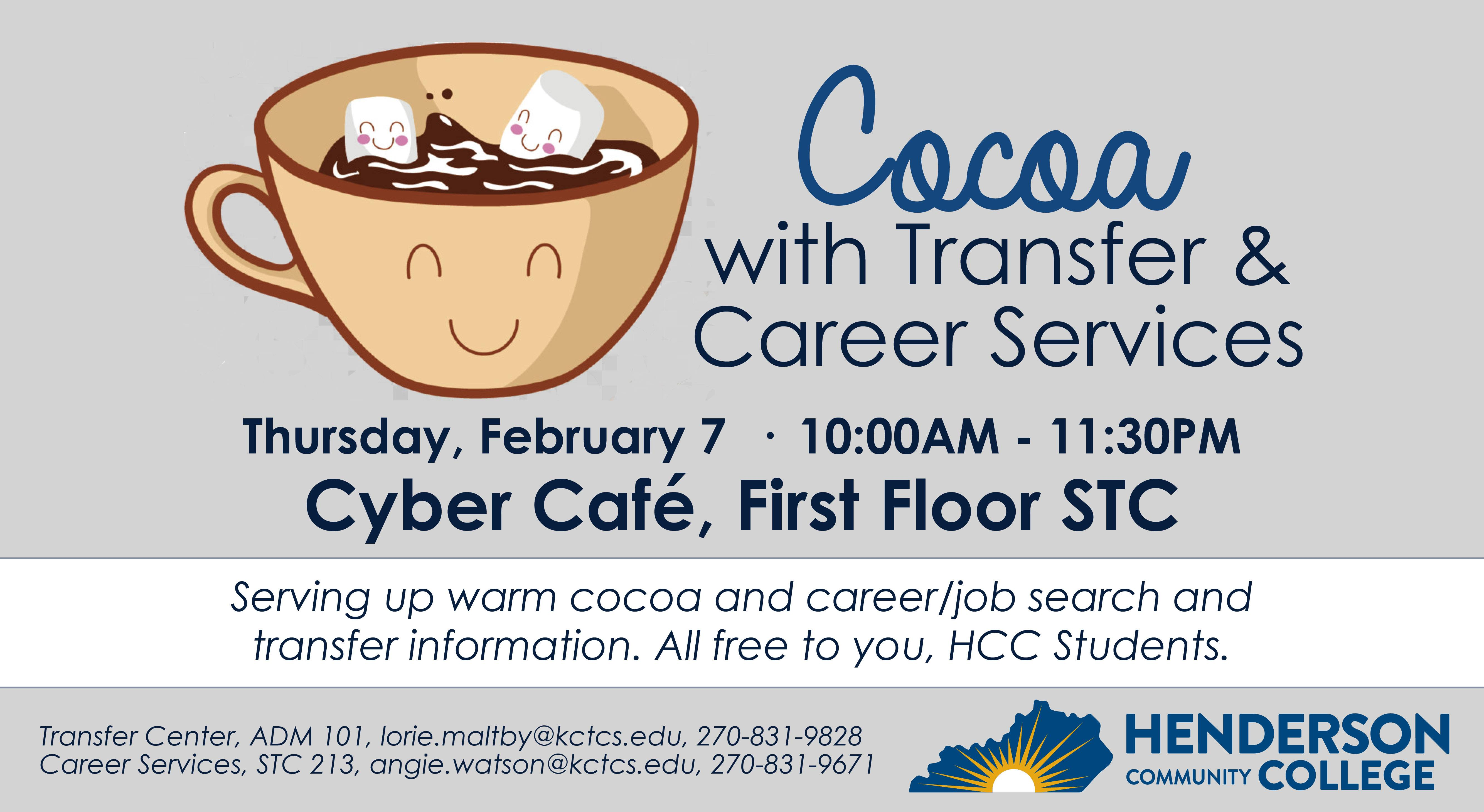 Cocoa with Transfer/Career Services