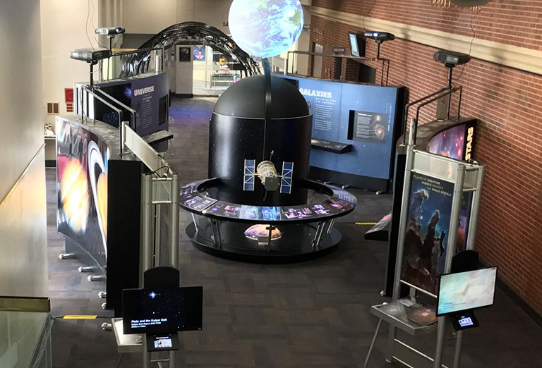 NASA HUBBLE DISPLAY at the PAC on campus of Henderson Community College
