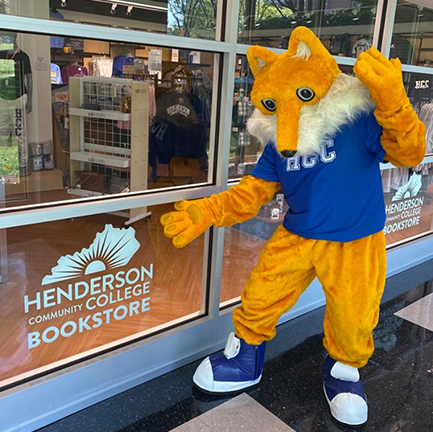 Pathfinder in front of the HCC Bookstore