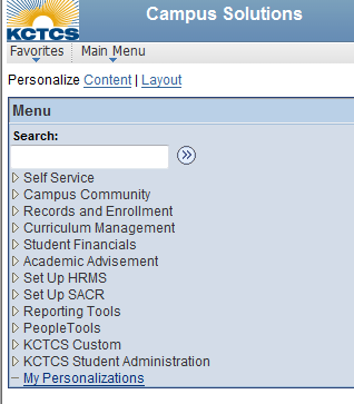 Peoplesoft screen image 1